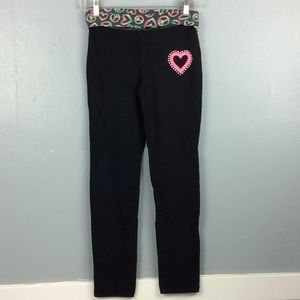 Justice Girls Black Leggings Yoga Pants Sz 14